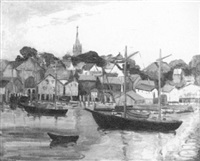 gloucester harbor by henrietta hunt henning