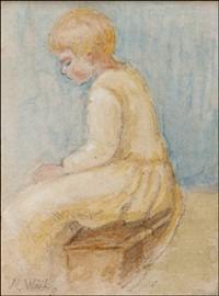 istuva tyttö by maria wiik