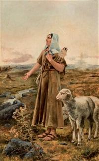 la pastorcilla del ángelus by manuel alcazar y ruiz