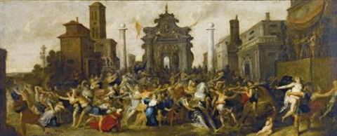 the rape of the sabine women by frans francken the younger