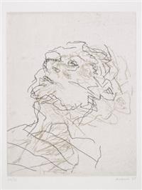 julia sleeping by frank auerbach