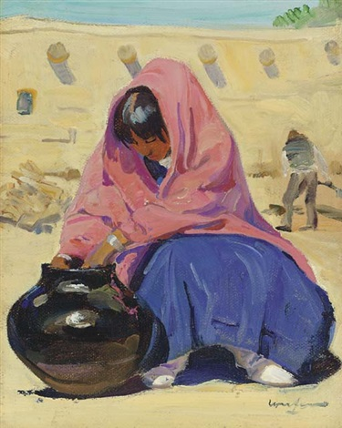 her treasury jar by walter ufer