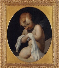 a putto by lubin baugin