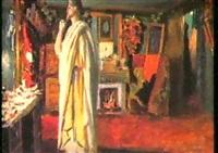 mounet sully in der garderobe by louis edouard paul fournier