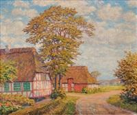 farmstead in the summer by heinrich blunck-heikendorf