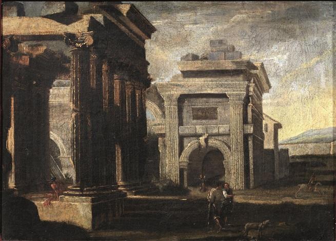 capriccio con rovine by viviano codazzi