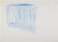 couette bleue sur une table by wolfgang gaefgen