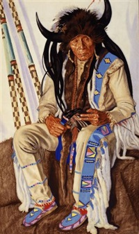 chief medicine boss ribs, blackfeet medicine man by winold reiss