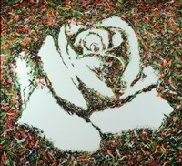 the white rose (from the monad series) by vik muniz