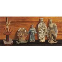 maderas, figuras coloniales by olga costa