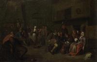peasants merrymaking in a tavern interior by egbert van heemskerck the elder