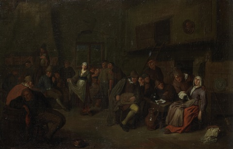 peasants merrymaking in a tavern interior by egbert van heemskerck the elder