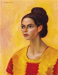 muchacha dorada by raúl anguiano