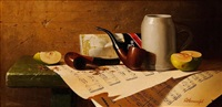 still life with tobacco pipe by d. annenkov