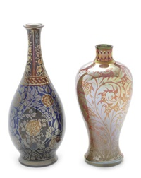 two lustre vases by william mycock
