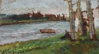 paesaggio fluviale by ulvi liegi (luigi levi)