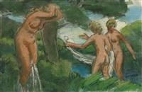 trois baigneuses by julio gonzález