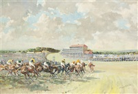 the derby, viewed from tattenham corner by graham smith