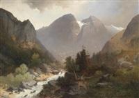 große landschaft by adolf obermüllner