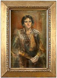 porträtt av ung kvinna by emma (helfrid charlotta) toll