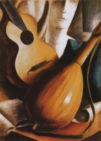 mandolinos csendélet, 1933 (still life with mandolin) by jenö gábor