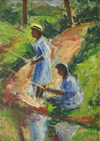 two girls fishing by ethel v. ashton