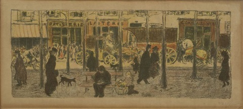 boulevard for quelques aspects de la vie de paris by pierre bonnard