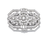 brooch of geometric design by mikimoto