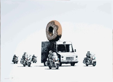 donuts chocolate by banksy