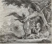 hagar und der engel in der wüste by johann philipp lemke
