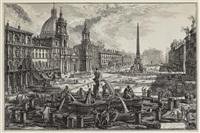 Veduta di Piazza Navona sopra le rovine del...