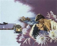 embracing couple - san francisco by elaine duillo