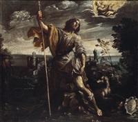 der heilige rochus in einer landschaft by giovanni andrea (il mastelletta) donducci