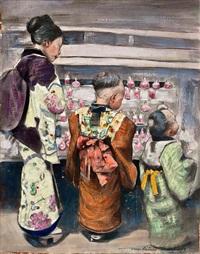 at the sugar water stall by mortimer luddington menpes