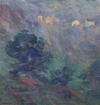paysage dans la brume by alfred smith