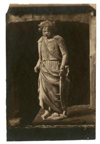 moulage en plâtre d'une statue du roi david by charles nègre