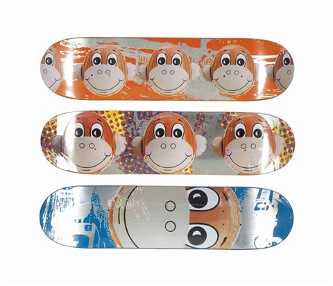 monkey train skate decks 3 works by jeff koons