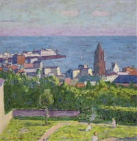 brighton from clifton terrace by edward le bas