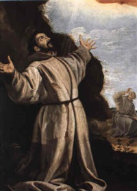 saint francis receiving the stigmata by bartolome (carducho) carducci