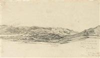 view of cader idris, north wales by james ward