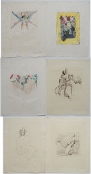 untitled (set of 6) by jacques villon