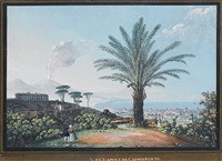 the bay of naples from capodimonte by giuseppe gustavo scoppa
