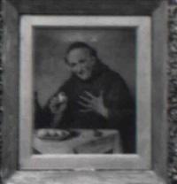 monk with eggs by rodolfo agresti
