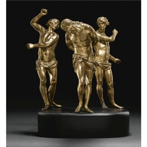figures of the flagellation set of three 2 taller also after francois duquesnoy by alessandro algardi lalgarde