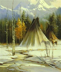 winter camp by robert wagoner
