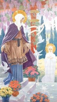 sainte élisabeth et sainte marie by henry morin