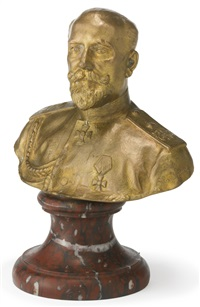 a portrait bust of georgii maximilianovich, duke of leuchtenberg by seraphin soudbinine