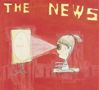 untitled (the news is gone) by david shrigley and yoshitomo nara