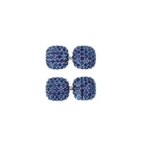 sapphire and gold cufflinks (pair) by trianon (co.)