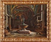 le baptistère de la basilique saint marc animé à venise (chiesa dei putti) by jean baptiste van moer